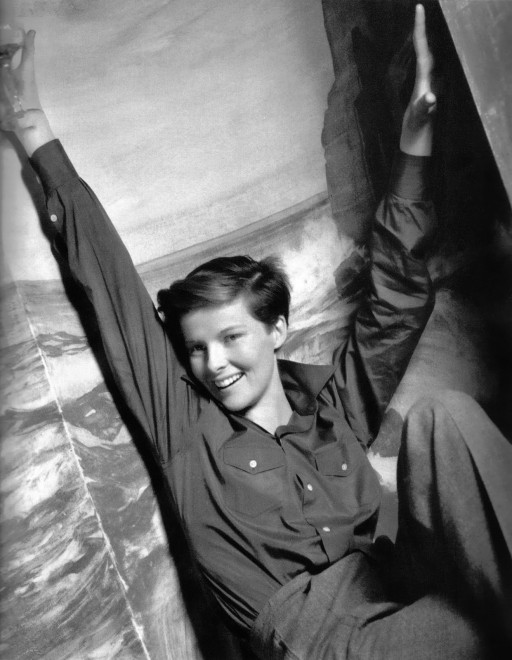 Katharine Hepburn dressed as a boy in the movie Sylvia Scarlett.